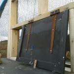 Release aviary hatch 11-2013. Photo by Liz Corry