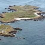 Burhou aerial. Alderney Wildlife Trust