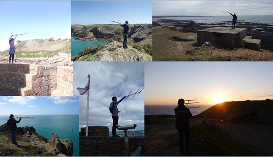 Radio-tracking the missing choughs in Jersey. Photos by Liz Corry