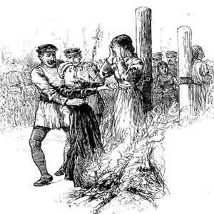 witch burning. Image taken from www.theislandwiki.org