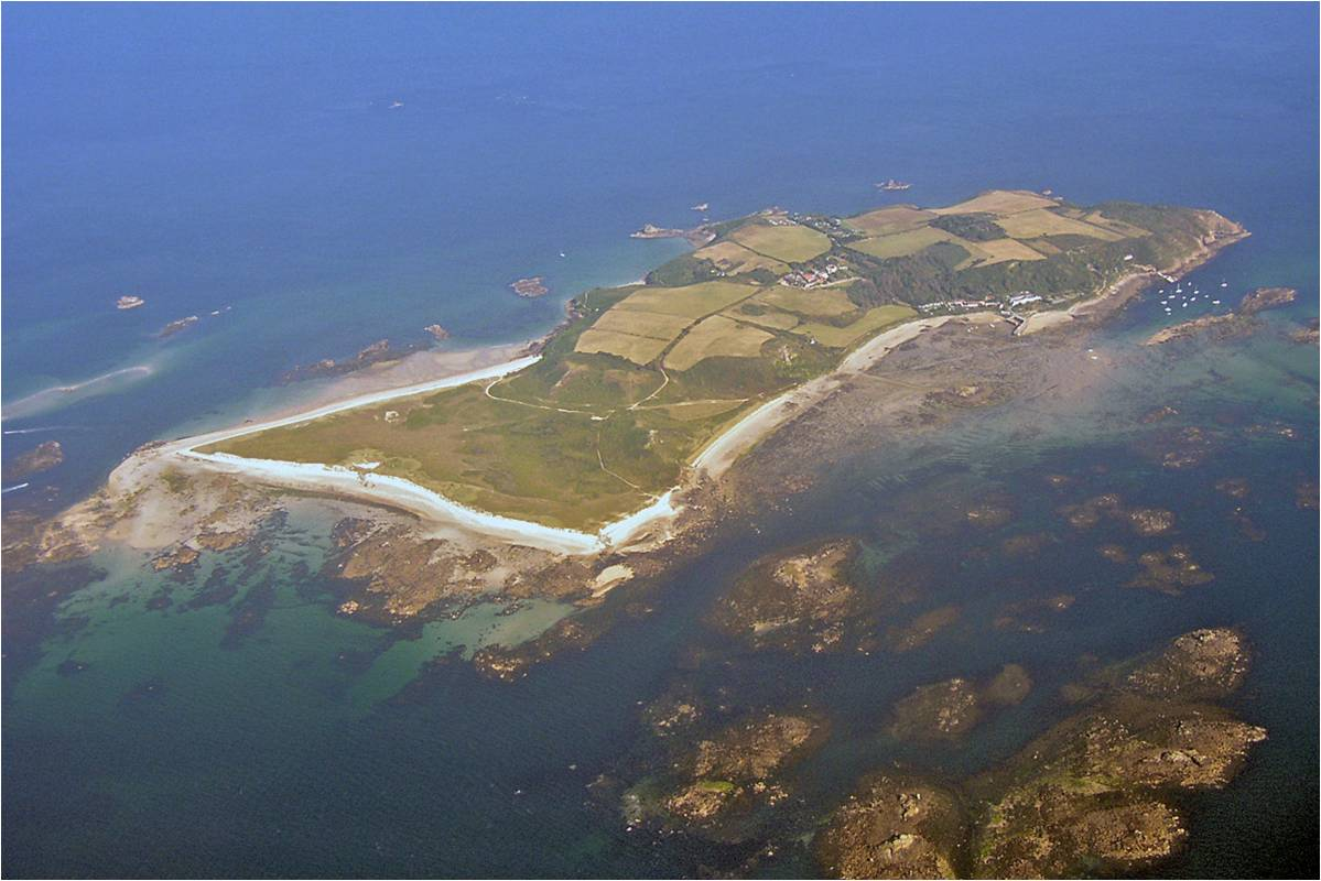 Herm aerial oblique - copyright States of Guernsey
